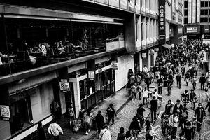Pedestrians in Shinjuku