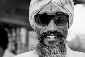 Man wearing sunglasses and beard