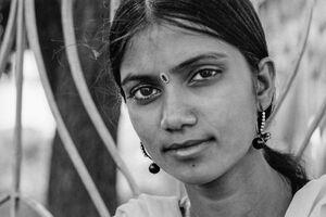 Young woman wearing gorgeous Bindi