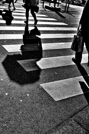 Shadows of pedestrians
