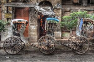 Three rickshaws