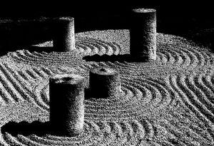 Stone Cylinders in Tohuku-Ji