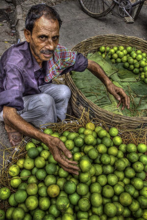 Man selling oranges