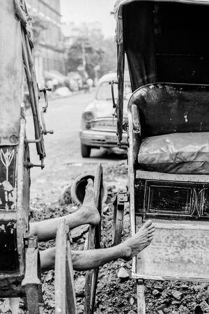 Legs of rickshaw wallah