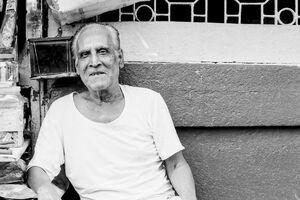 Old man resting