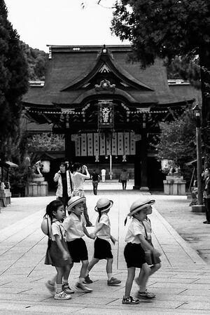 kindergarteners in Kitano Tenman-Gu
