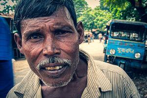 Man with suspicious eye