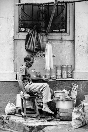Chai stand in street corner