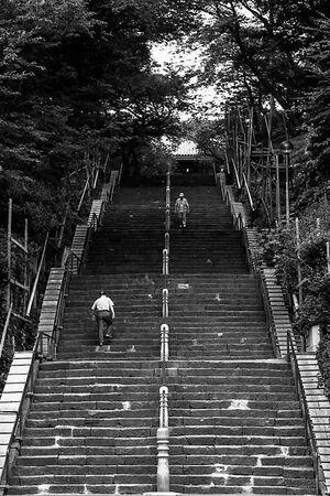 Steep stairway in temple
