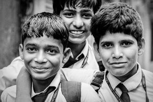 School boys wearing a tie