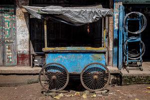 Four-wheeled stall