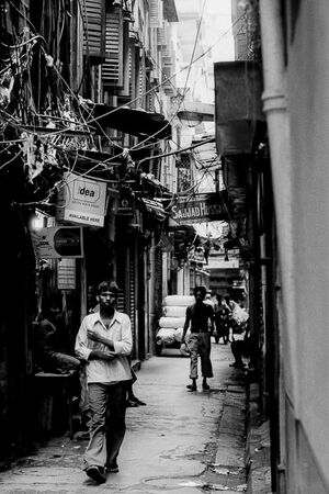 Dim lane in Kolkata