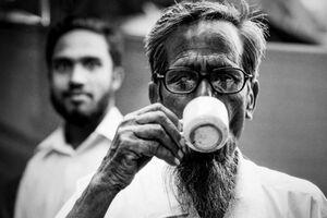 Man drinking Cha