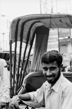 Bearded rickshaw wallah
