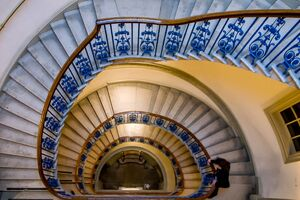 Spiral staircase in Courtauld Gallery