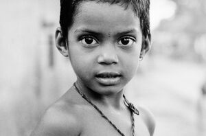 Shining eyes of boy