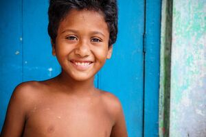 Pleasant smile of boy
