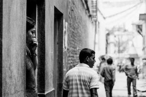 Woman having vacant eyes