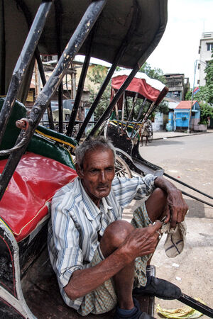 Lazy rickshaw wallah