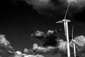 出雲の風力発電所