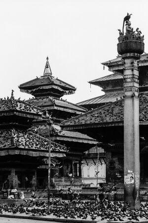 カトマンズのダルバール広場に建ち並ぶ寺院