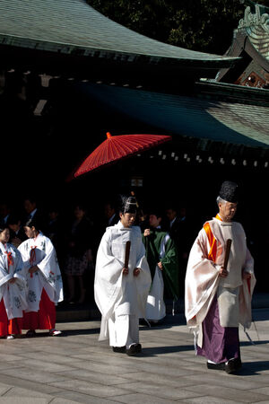 Two Shinto priests