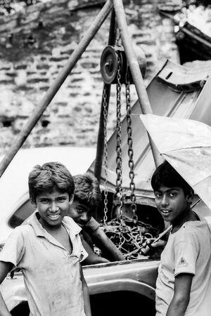 Boys in factory