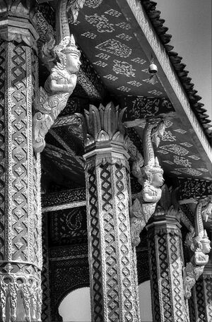 Pillars of Buddhist temple