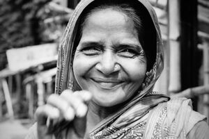 full smile of woman