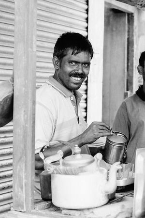 Smile at chai stand