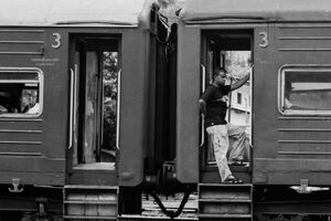 Man at platform