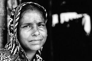 Pensive eyes of woman