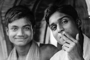 Two men on the rickshaw