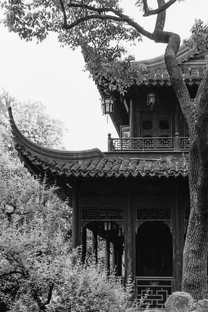 Jagged roof in Yu Garden