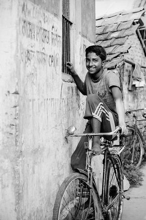 Youngster on bicycle