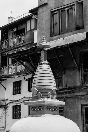 Small stupa with eyes