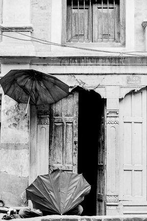 Umbrella craftsmen in Kathmandu