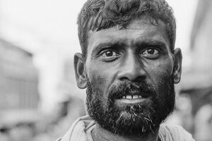 Laborer with a bushy beard
