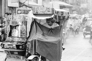 Speeding trishaw