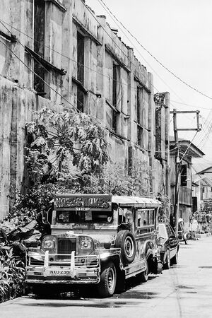 Jeepney parked by roadside