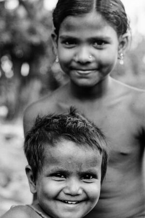Cheerful boy and girl