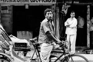 Humorous rickshaw wallah