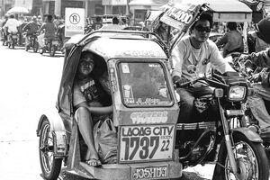 Passenger on side car
