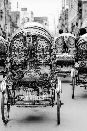 Decorative cycle rickshaws