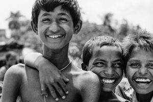 Three boy smiling