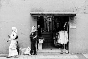 洋服店の入り口