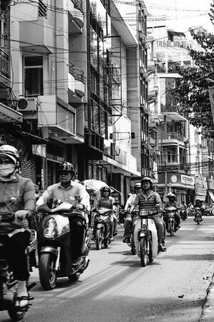 Motor scooters and motorbikes in Ho Chi Minh city