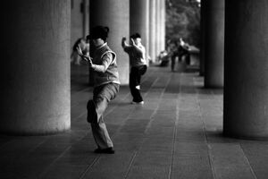 Woman doing Tai Chi