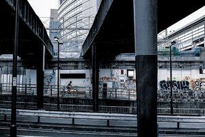 使われなくなった東横線の高架橋