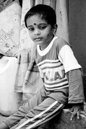Boy having dismal look